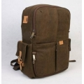 RUSH R6724 Canvas DSLR Camera Bag Backpack  - Brown